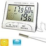 Digital Series–Thermometer Hygrometer digital Temperatur Luftfeuchtigkeit für Haus Innen Außen Sonde