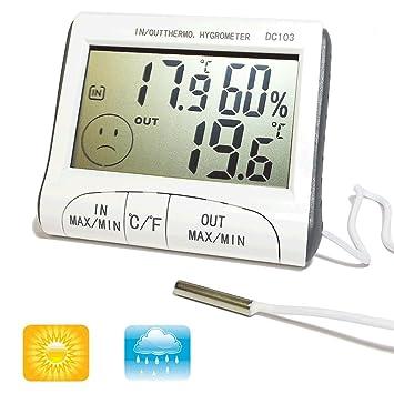 Digital Series – Termómetro, higrómetro, digital, mide la temperatura y la humedad,