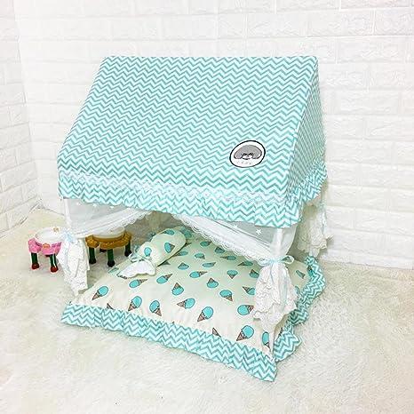 shanzhizui Tienda de Mascotas Nido de Gato Lavable Casa del Gato Bomei Bichon Perro de Peluche