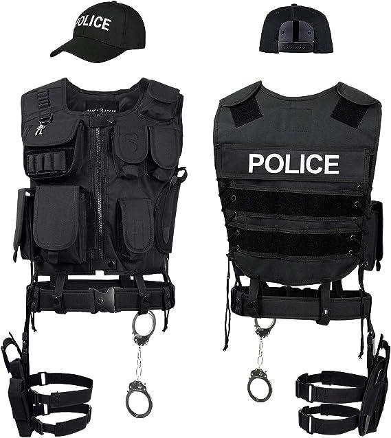 Black Snake® Forces spéciales Costume SWAT FBI Police Secu