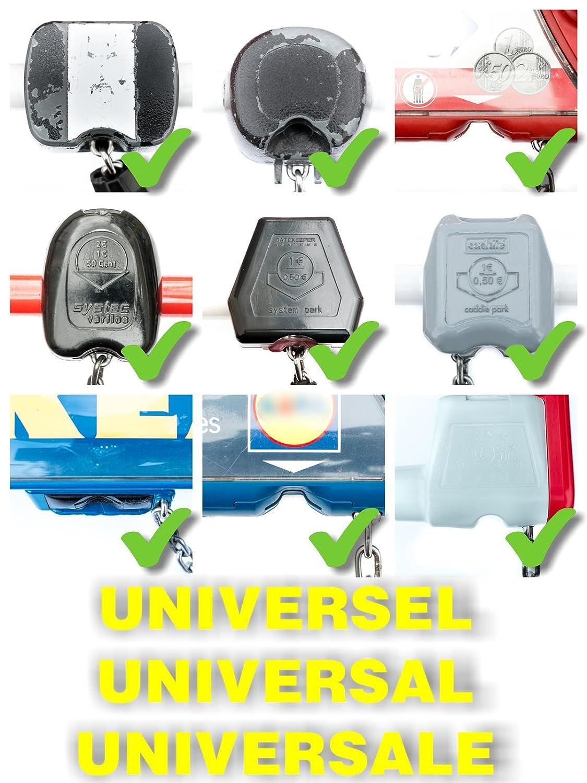 PASSE-PARTOUT UNIVERSEL pour chariot de supermarché, ALTOCLÉ libère les chariots sans pièce ni jeton, et sans rester dans l'appareil (3)