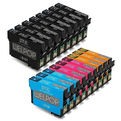 WELPOP Cartuchos de tinta para Epson SX100 SX110 SX200 SX210 SX218 ...