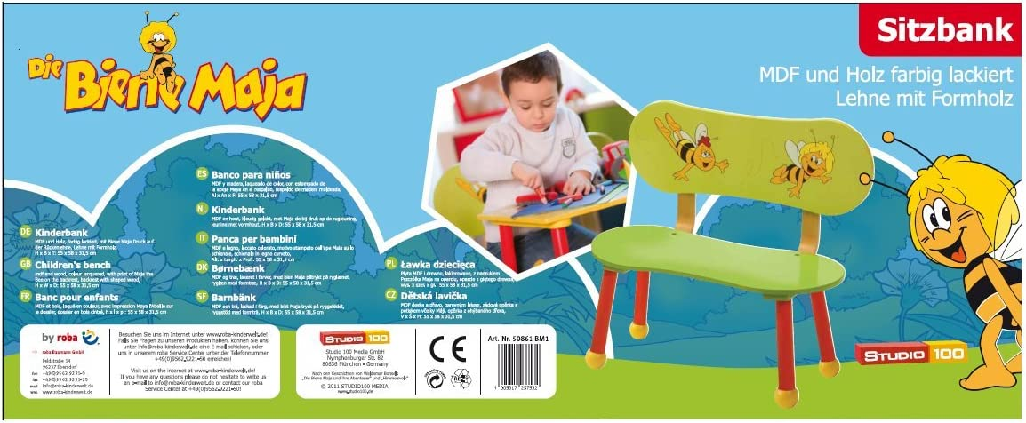 Roba 50861 Biene Maja Panca per Bambini Multicolore