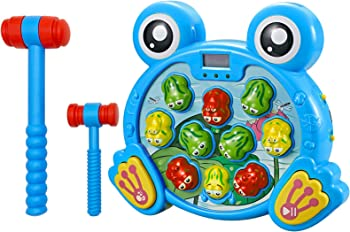 Think Gizmos Interactive Whack A Frog Early Developmental Stem Toy