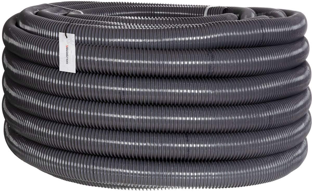 """HOLZBRINK Teichschlauch 40 mm (1 1/2"""") Spiralschlauch PVC Saugschlauch verstärkt, Länge: 10 m, HVS-05-10"""