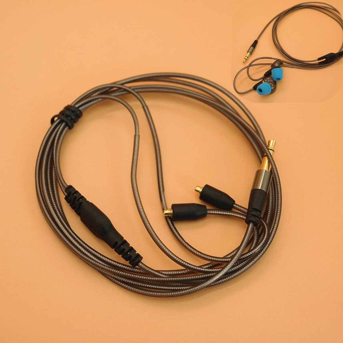 3.5mm Earphone Audio Cable Replacement for Shure Headphone SE215 315 425 535 846 BephaMart BM00001