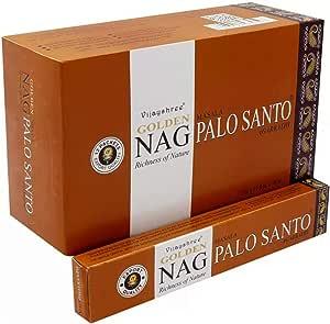 VIJAYSHREE GOLDEN NAG PALO SANTO 15 GR. X 12 CAJITAS=180 GR.…: Amazon.es: Hogar