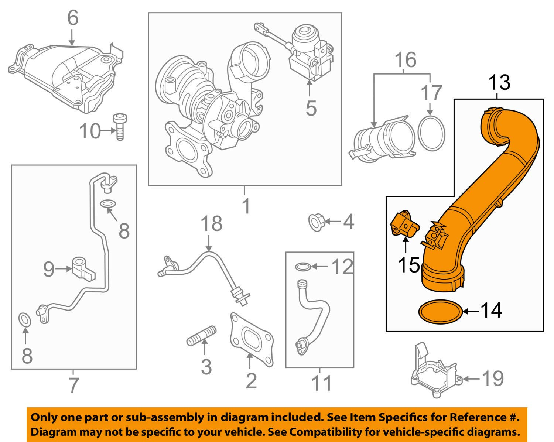 New Genuine OEM Volkswagen 04E145673G Pressure Pipe Jetta 162 163