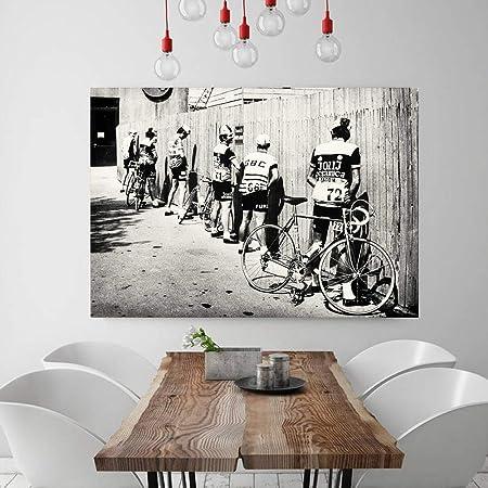 Bicicletta Da Ciclista In Bianco E Nero Stampa Bici Poster
