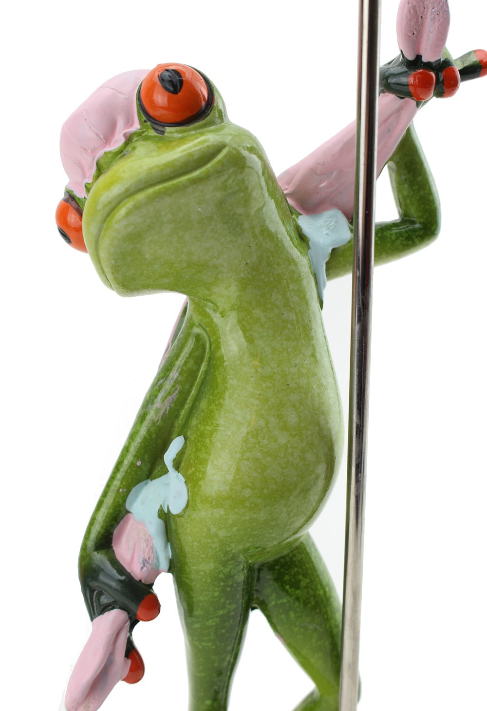 Novelty funny frog figurine taking a shower figurines home decor green orange ebay - Funny frog pictures ...