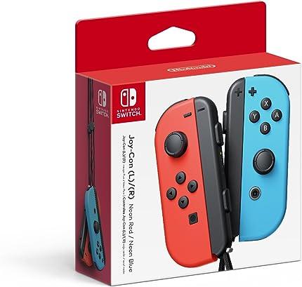 Nintendo Joy Con (L/R)   Neon Red/Neon Blue by By    Nintendo