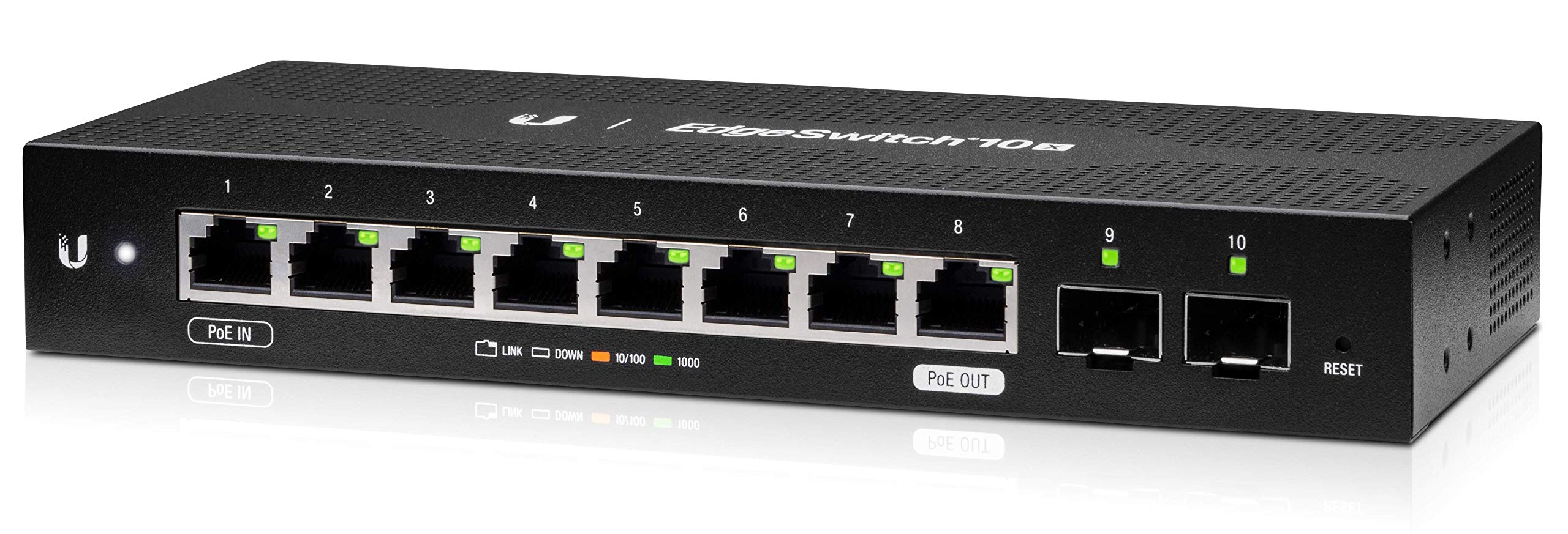 Ubiquiti EdgeSwitch 10X, 10-Port Gigabit Switch with Poe Passthrough (ES-10X) by Ubiquiti Networks