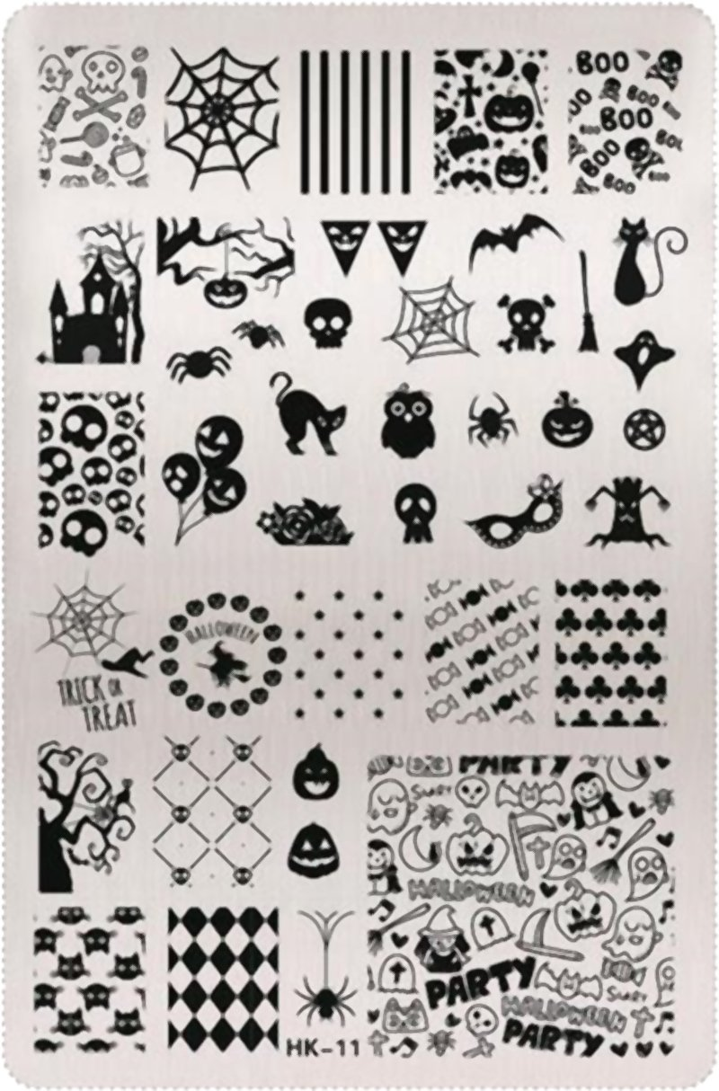 XXL Halloween Nails Stencil Plate Stamping Nail Art RM Beautynails