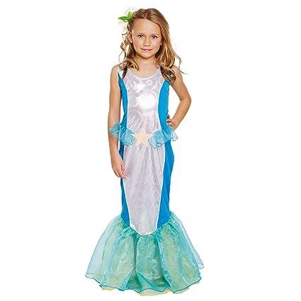 Amazon.com: Sirena del mar de niña disfraz edades 4 – 6 años ...