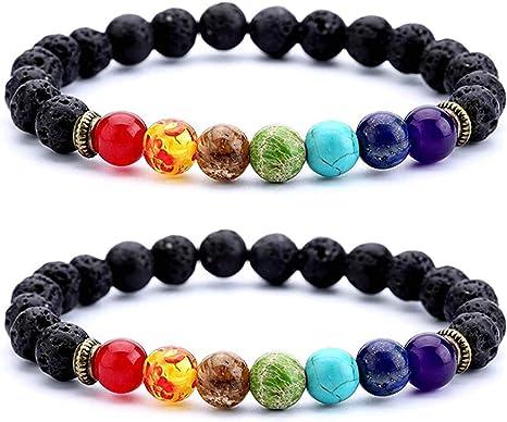 buddha wrist mala chakra gemstone bracelet beaded bracelet Essential oil diffuser healing stones Lava rock bracelet aromatherapy