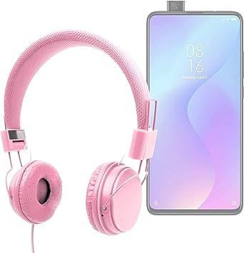 DURAGADGET Auriculares De Diadema Color Rosa Compatible con Smartphone Xiaomi Mi 9T Pro, REALME 5, REALME 5 Pro: Amazon.es: Electrónica