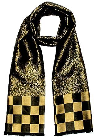Lorenzo Cana Foulard de 100% soie pour l`homme – écharpe style dandy avec 9fdf880df81