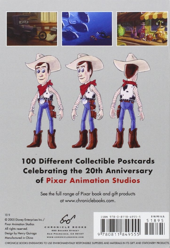 The Art of Pixar: 100 Collectible Postcards by Chronicle Books