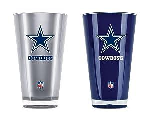 NFL Dallas Cowboys 20oz Insulated Acrylic Tumbler Set of 2