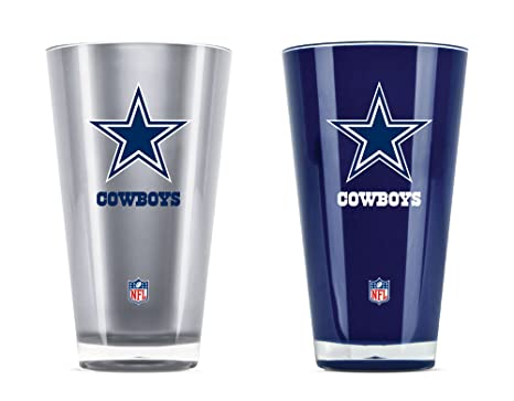3a02d79ef Amazon.com   NFL Dallas Cowboys 20oz Insulated Acrylic Tumbler Set ...
