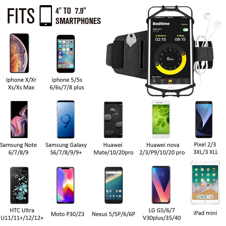 mit Schl/üsselhalter f/ür Apple iPhone XS Max XR X 8 7 6 6S Plus Samsung Galaxy S9 S9 S8 S7 S6 Rand Note 8 Google Pixel LG f/ür Sporttraining /Übung Joggen Newppon 180/° Drehbares Lauftelefon Armband