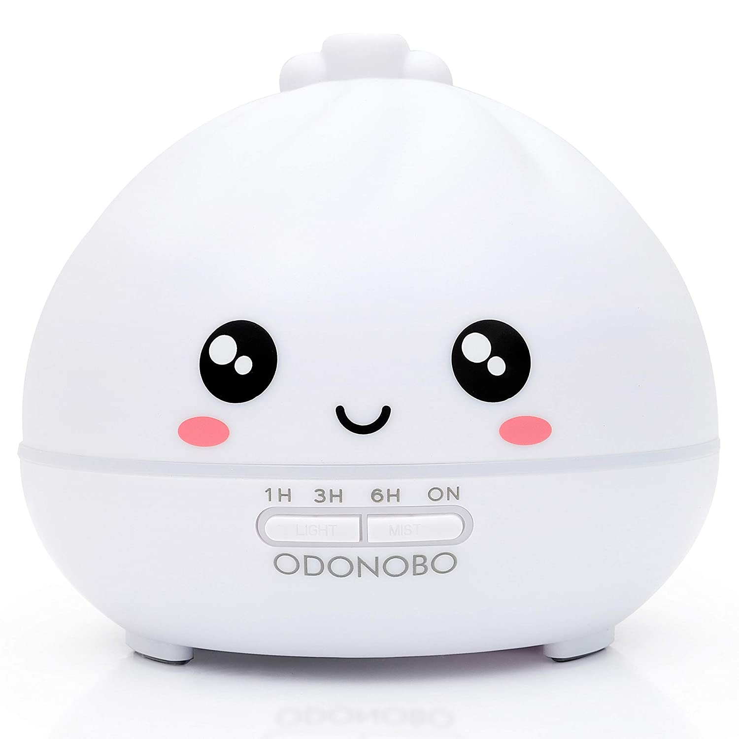 ODONOBO Cute Dumpling Essential Oils Diffuser for Kids, 300ml Cool Mist Air Mini Humidifier, Ultrasonic Aroma Oil Vaporizer, Aromatherapy 7 LED Colored Night Light - Benny Bao Design