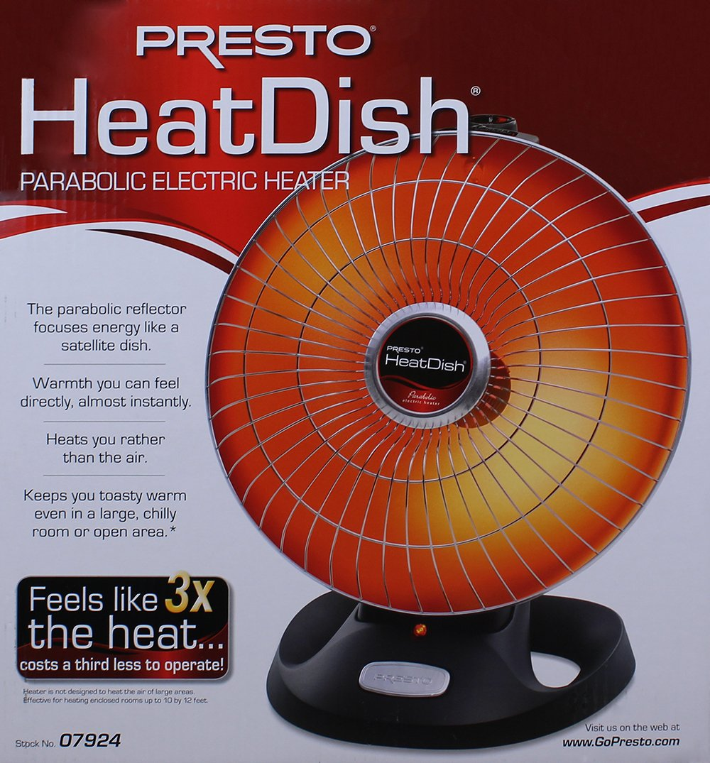 Phenomenal Presto Heat Dish Parabolic Electric Heater With Quick Concentrated Heat Wiring Digital Resources Jebrpcompassionincorg