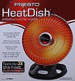 Presto Heat Dish Parabolic Electric Heater With
