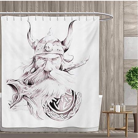 Colección de cortina de ducha con estampado de tatuaje de mosca ...