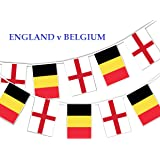 Party Decor Football World Cup 2018 - Match for 3rd Place England v Belgium - Bunting Banner 16 flags for simply stylish Football World Cup party decoration by
