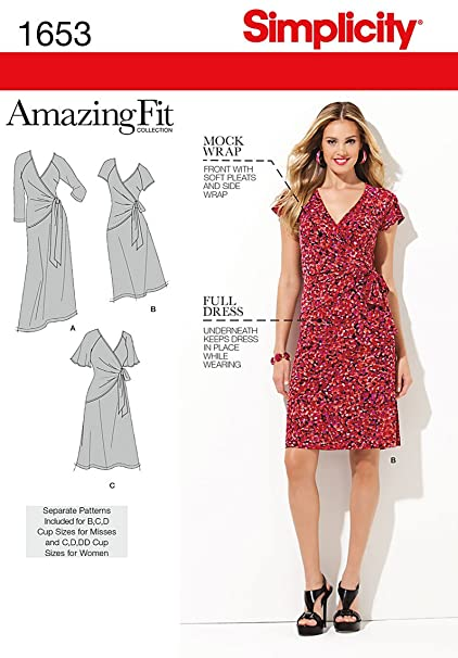 Amazon.com: Simplicity Amazing Fit Misses/Plus Size Sewing Pattern ...
