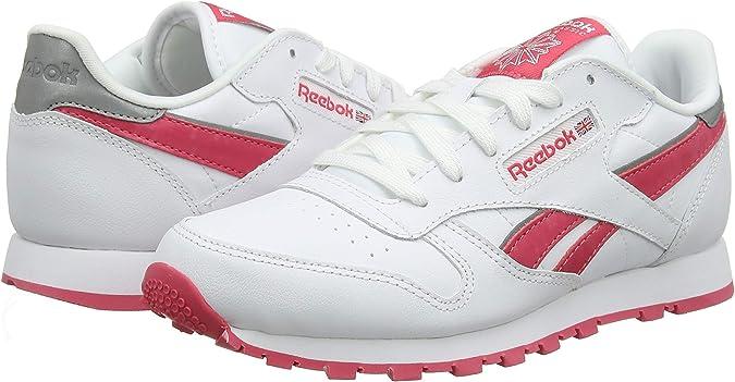 Reebok Cl Leather Reflect, Zapatillas de Running para Niñas: Reebok: Amazon.es: Zapatos y complementos