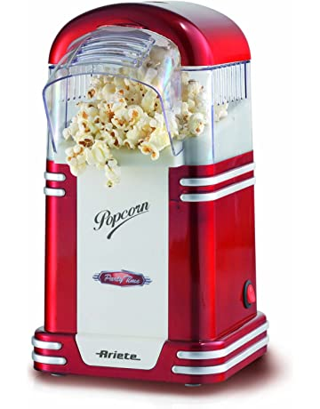 Ariete Party Time Maquina de Palomitas, Color Rojo, 1100 W, Blanco