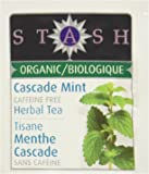 Stash Tea Organic Tea Bags in Foil, Cascade Mint Herbal, 100 Count (packaging may vary)