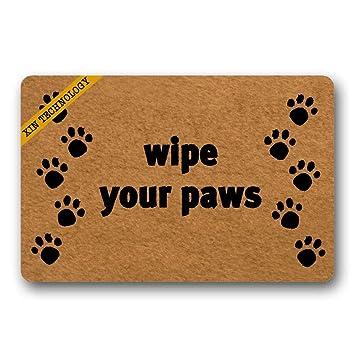 Amazoncom Artsbaba Entrance Doormat Wipe Your Paws Door Mat Rubber