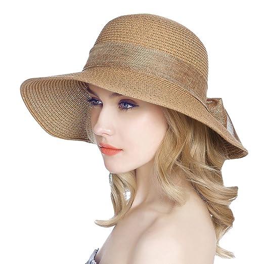 73fb85fdc Jemis Women' S Packable Sun Hat Wide Front Brim Smaller Back - SPF 50