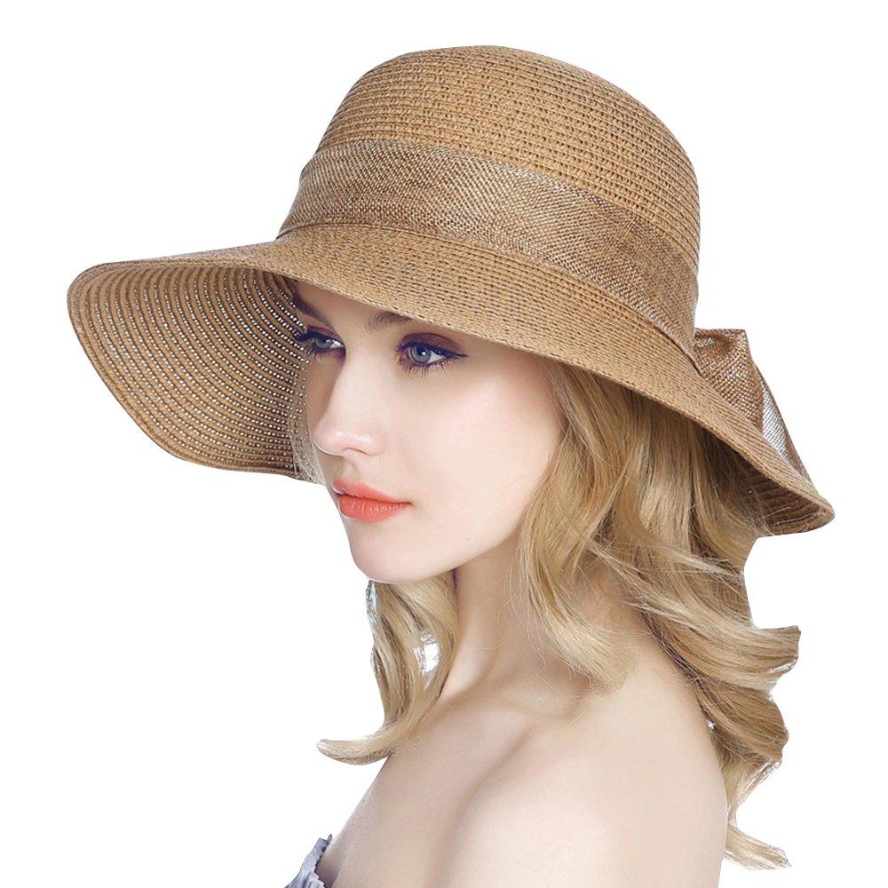 Jemis Women' S Packable Sun Hat Wide Front Brim Smaller Back - SPF 50
