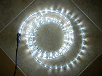 Amazon cool white 110 volts led rope lights 98 feet 10 cool white 110 volts led rope lights 98 feet 10 holding clips aloadofball Gallery