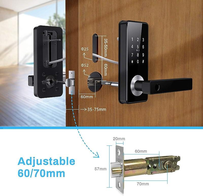 Tiffane Keyless Entry Door Lock with Touchscreen,Smart Fingerprint Door