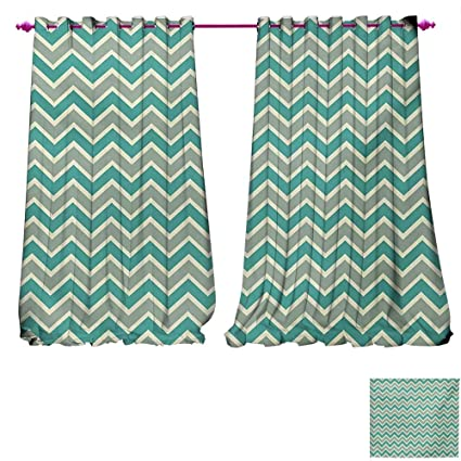 Amazon Davishouse Chevron Drapes For Living Room Zigzag Stripes Awesome Angular Pattern