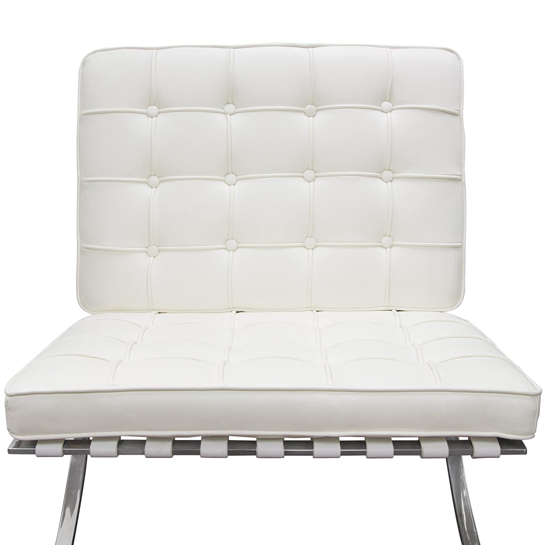 Amazon.com: Diamond Sofa Cordoba Tufted Chair & Ottoman 2PC ...