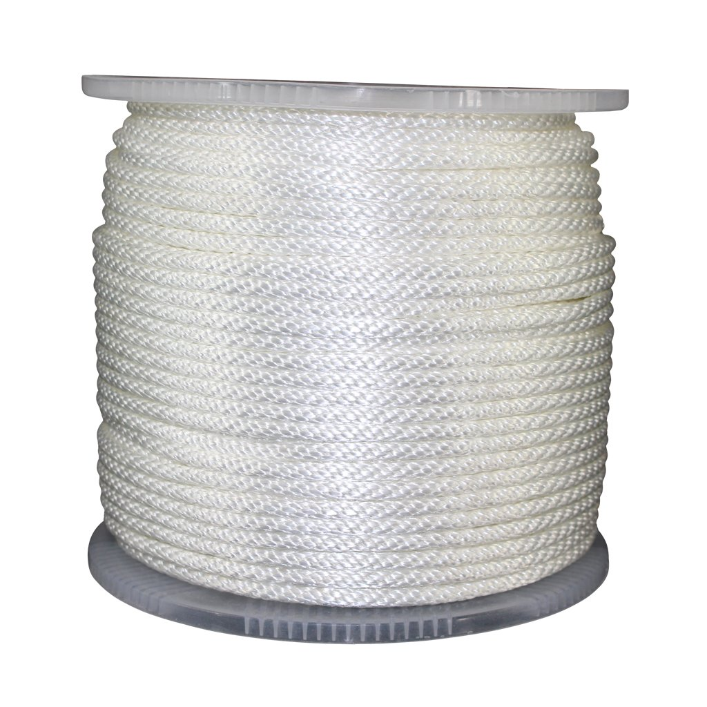 Anchor UV /& Weather Resistant - ReadyGear Solid Braid Nylon Rope 50 ft - 500 ft Mooring Oil Camping Boating 1//8 inch - 1//2 inch Blocks Rot Outdoors Gas Tow-Lines Pulleys Projects