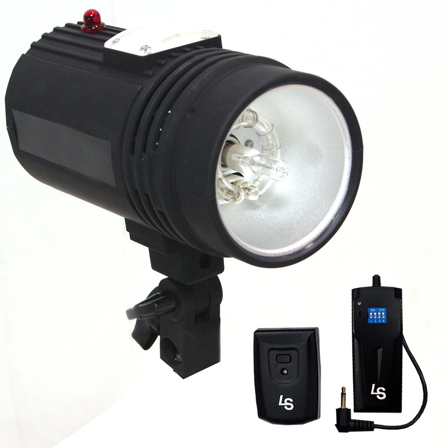LS Photography Flash Strobe Light 200 W, Sync Cord, Fuse, Test Button, Umbrella Input, Mount on Light Stand with , Radio Sync Transmitter & Receiver Professional Photography Use, Photo Studio, LGG626