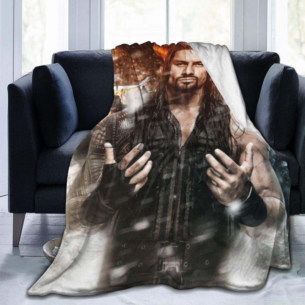Ro-Man-Reigns5 Ultra-Soft Micro Fleece Blanket