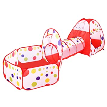 BATTOP Kids Play Tent Tunnel Set 3 in 1 Ball Pit Tent Indoor and Outdoor With  sc 1 st  Amazon.com & Amazon.com: BATTOP Kids Play Tent Tunnel Set 3 in 1 Ball Pit Tent ...