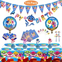Magichui Conjunto de 115 Piezas Shark Party Supplies