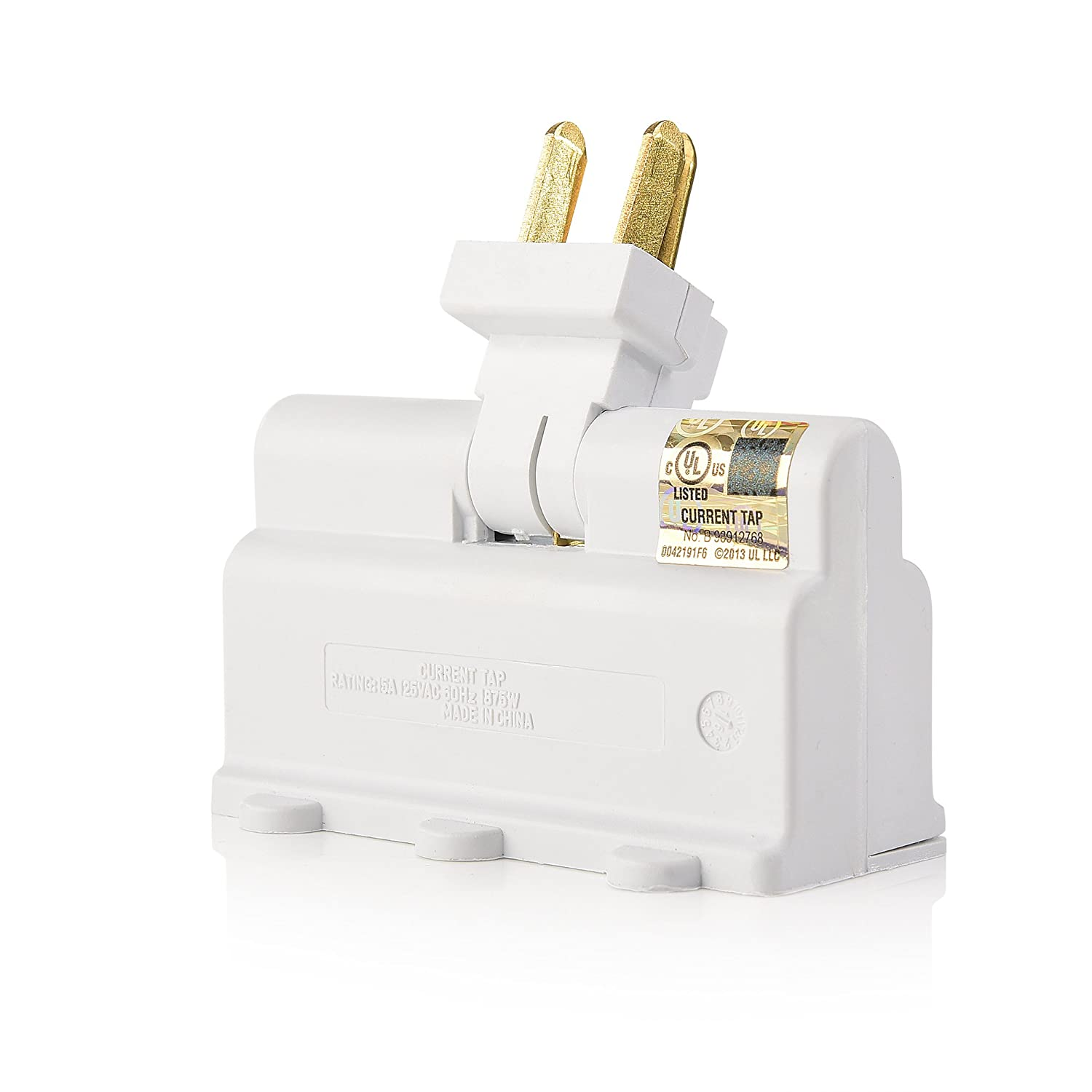 Cable Matters 3-Outlet Grounded 180 Degree Swivel Wall Tap 400013x2 2-Pack