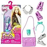 Barbie - Chaussures, Sacs à Main, Bijoux - Accessoires Set pour Poupée Barbie