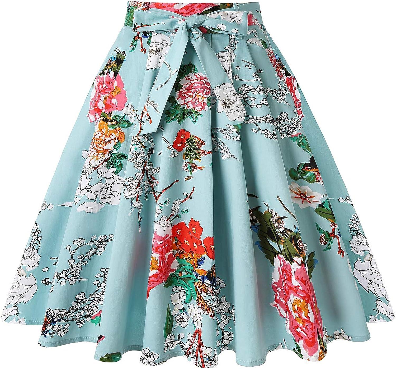 Minlimit - Falda plisada vintage de los años 50, con dos bolsillos ...