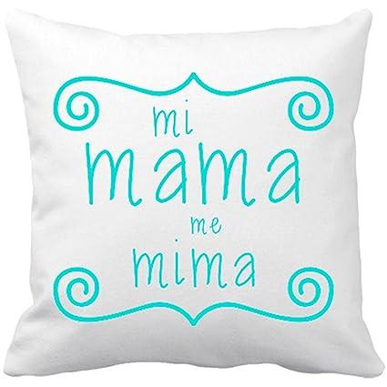 Cojín con relleno Mi mama me mima - Blanco, 35 x 35 cm ...